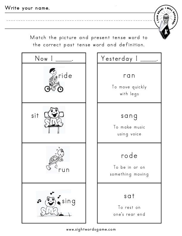 verb graphic organizers for kids - Google Search Language - action verbs list