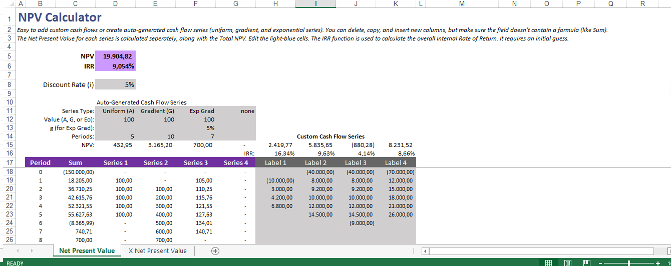 Net Present Value Calculator Template Are You Looking For A Net