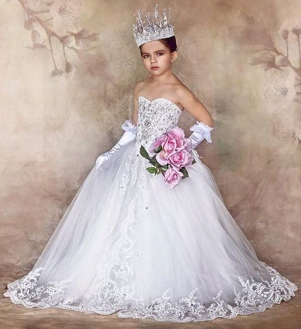 """""""Queen Of The Day""""... One of our Unforgettable Princess Style Flower Girl Dresses"""