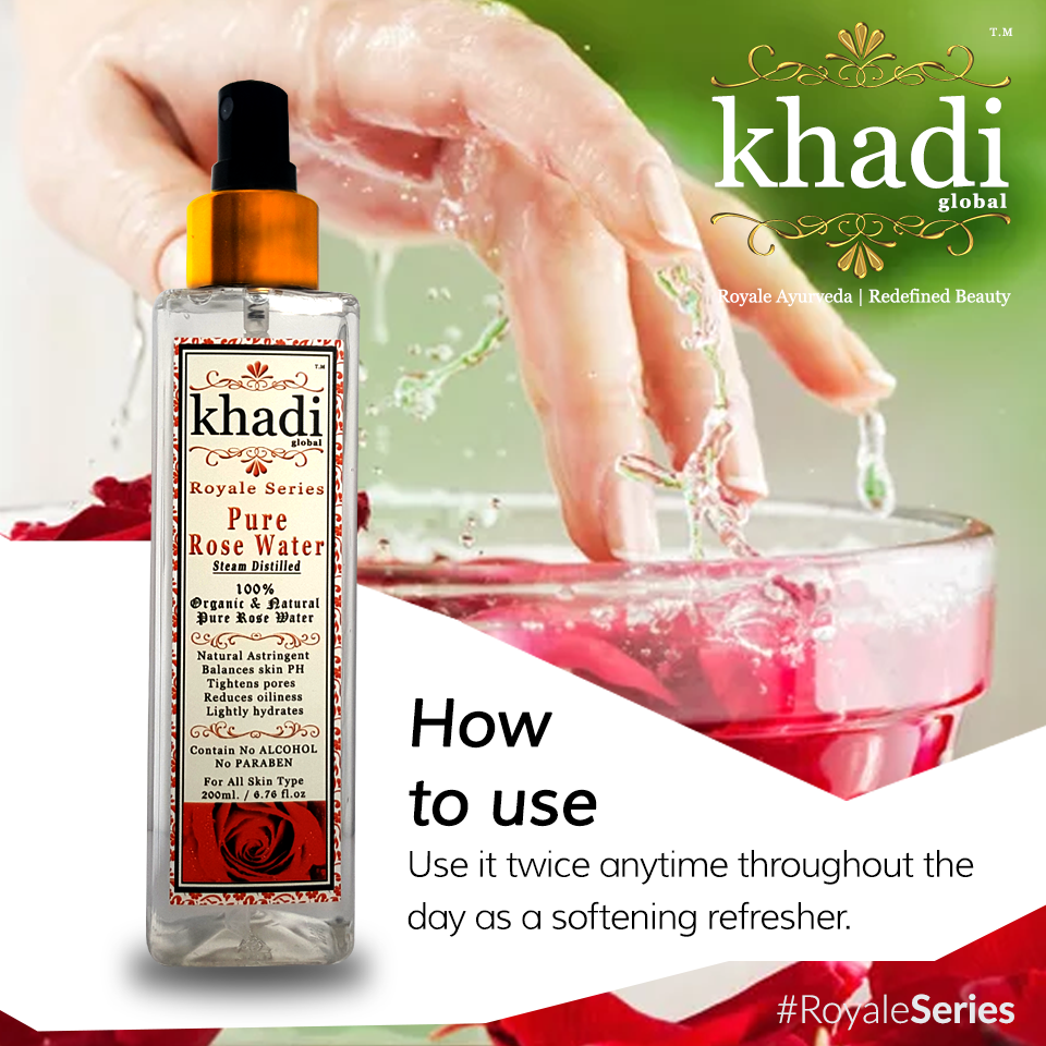 Pure Rose Water Khadi Global Pure Products Rose Water Distillation