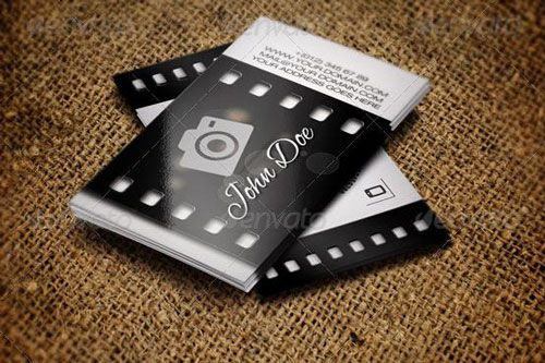 Photographer Business Card Template Businesscards Psdtemplate - Photography business card templates