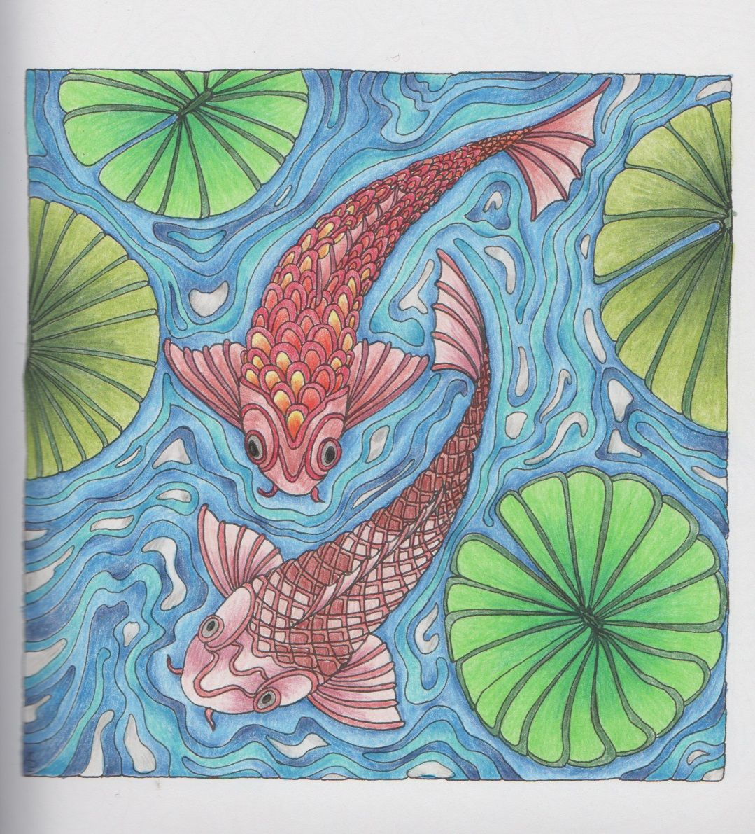 Zen ocean colouring book - Water Scenes 001 From Color Me Calm By Lacy Mucklow And Angela Porter