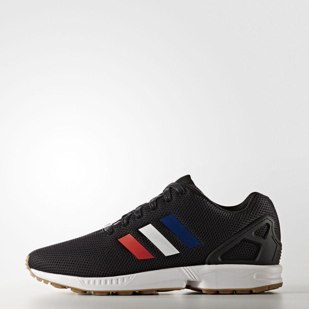 Adidas originals zx flux running shoes mens size us 9.5 black tricolor  bb2767