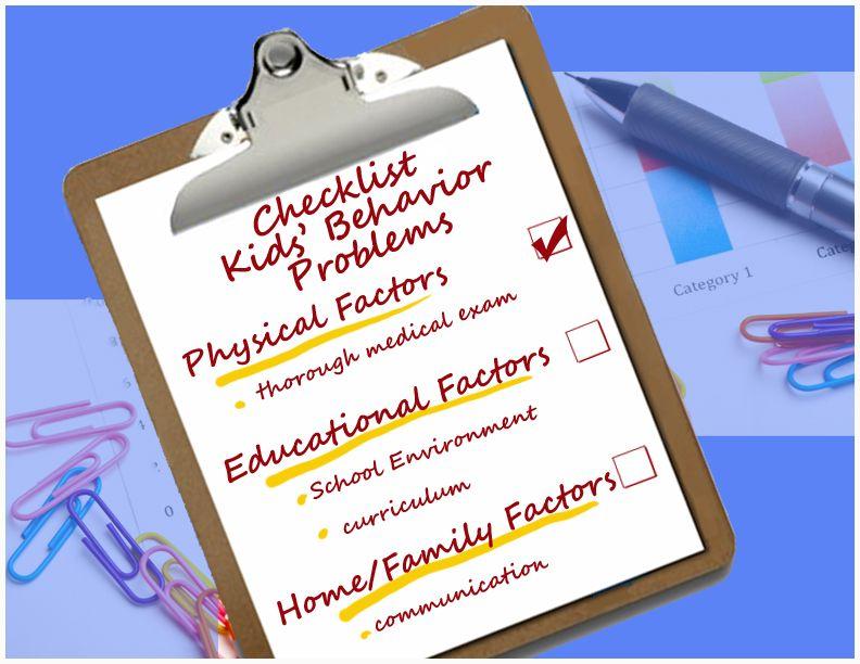 Checklist classroom behavior management behavior