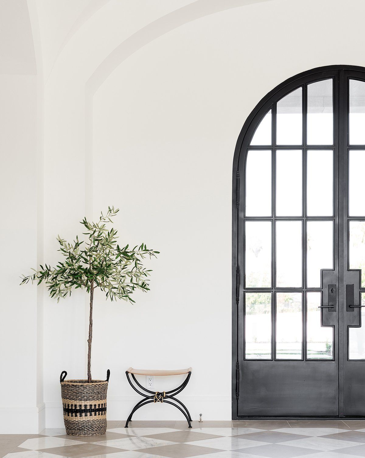 Faux Potted Olive Tree Green 69 With Images Home Arched Doors Interior