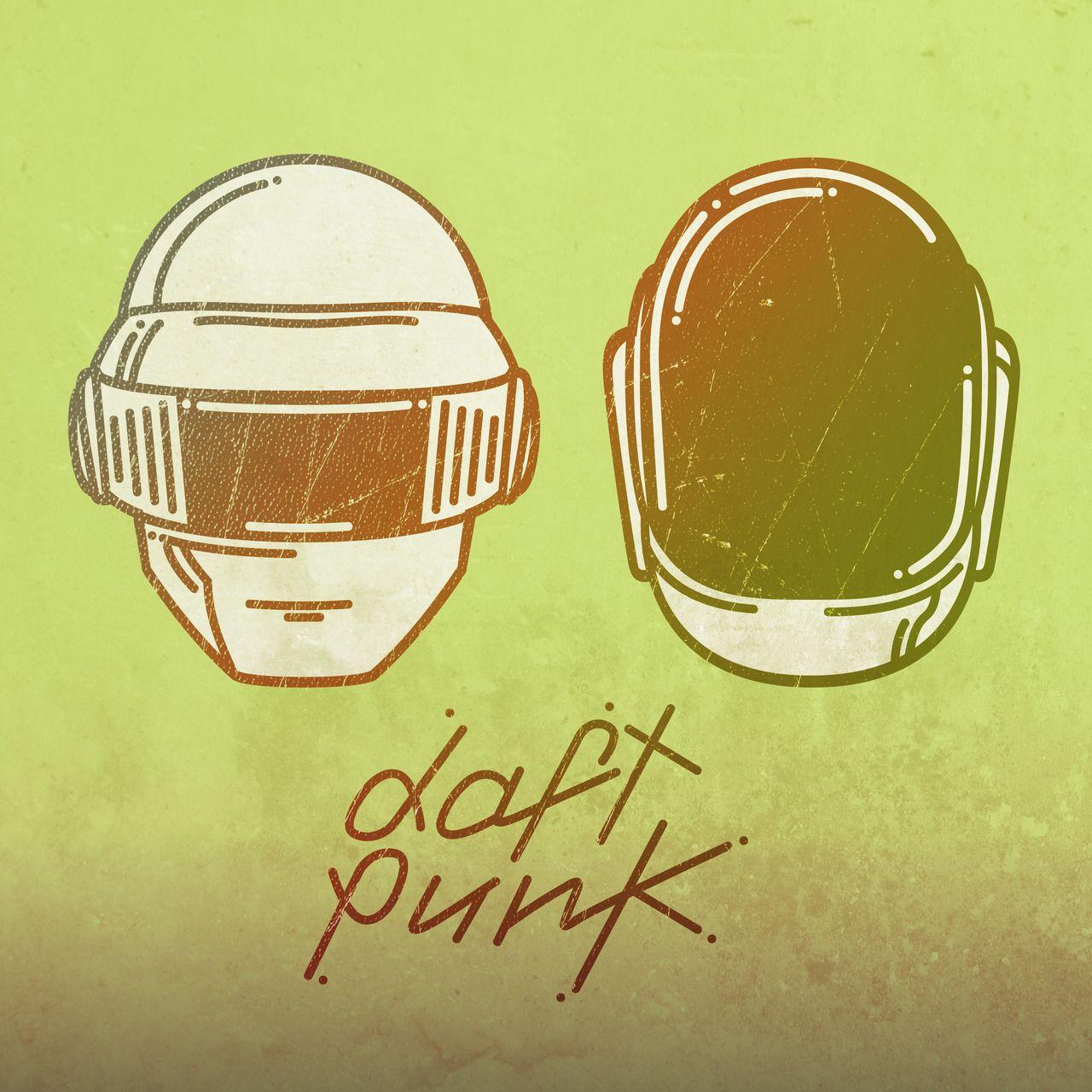 Simple line illustration of daft punk. | Delicious Illustrations ...