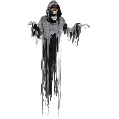 Hanging Reaper 72 Animated Halloween Decoration Walmart Com Animated Halloween Props Animated Halloween Decorations Scary Decorations
