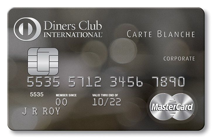 Diners club carte blanche black corporate card diners
