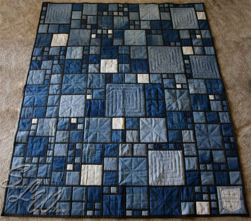 quilt rag twin denim pinterest images blocks size and patchwork flannel best handmade quilts janvoigt back on with
