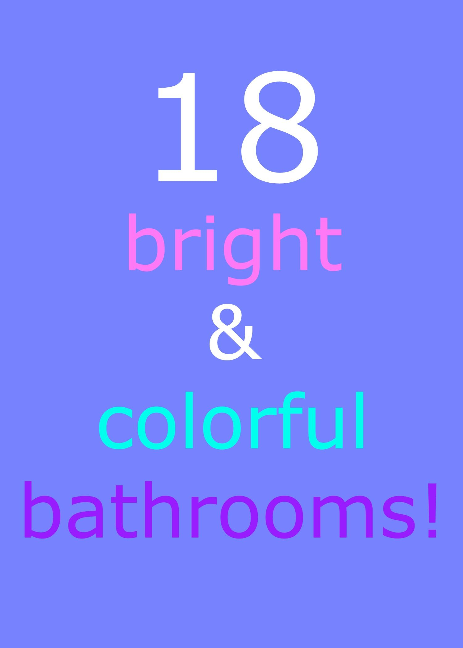 Ah! This is exactly what my bathroom needs right now--just a little color to liven it up :)