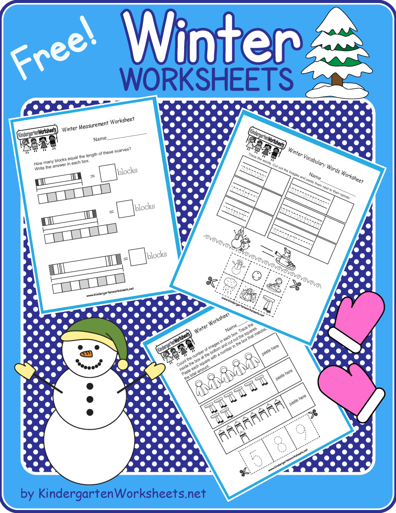 Kindergarten Winter Worksheets Winter Kindergarten Free Kindergarten Printables Kindergarten Worksheets [ 1035 x 800 Pixel ]