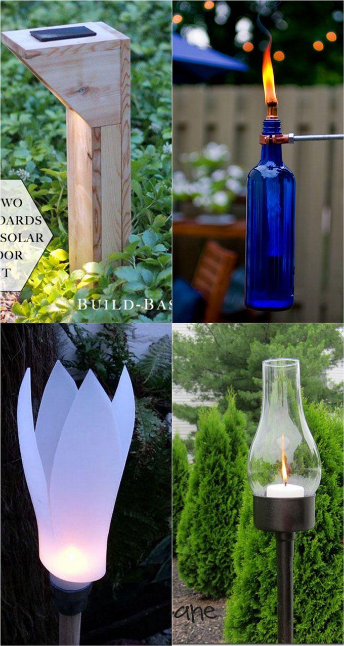 28 Stunning Diy Outdoor Lighting Ideas So Easy Backyard Lighting Outdoor Lighting Landscape Lighting Design