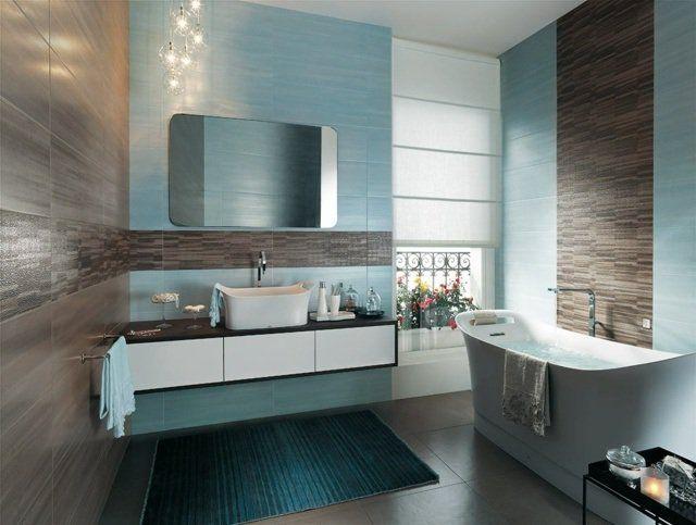 Carrelage de salle de bains original \u2013 90 photos inspirantes Pinterest