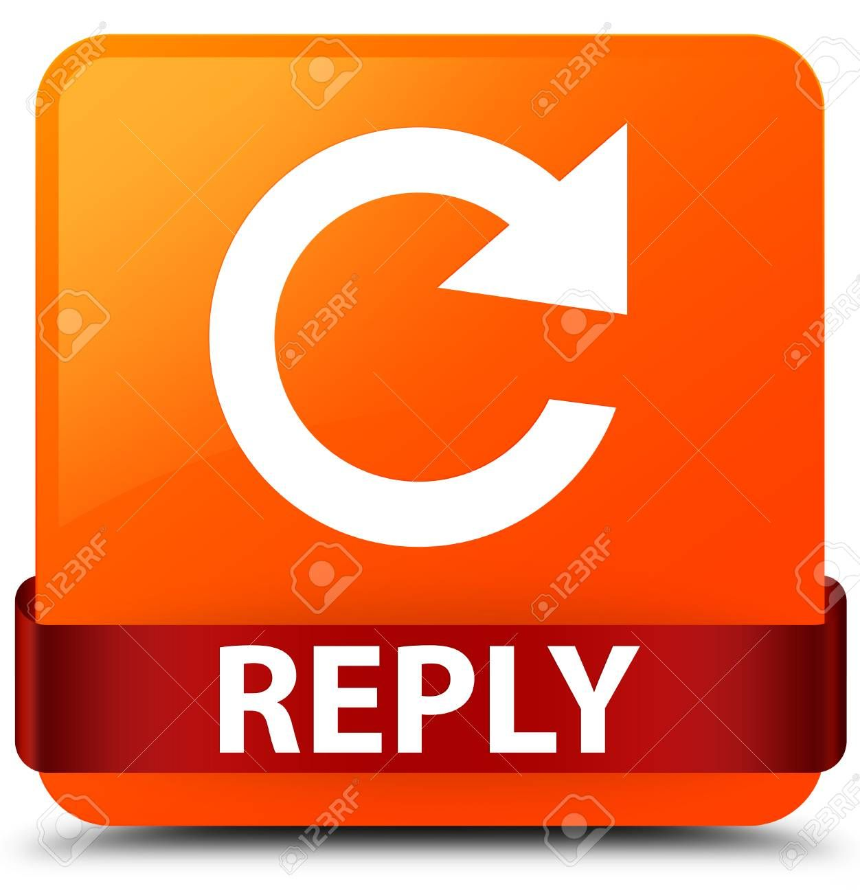 Reply Rotate Arrow Icon Isolated On Orange Square Button With Red Ribbon In Middle Abstract Illustration Spon Icon Isola Orange Square Red Ribbon Icon