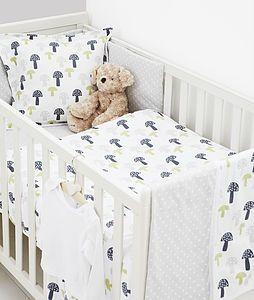 Printed Toadstool Duvet Set Cot Bed Duvet Set Nursery