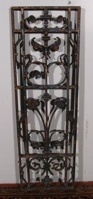 French Antique Wrought Iron Window Grille Cast Panel French Antiques Iron Windows Wrought Iron