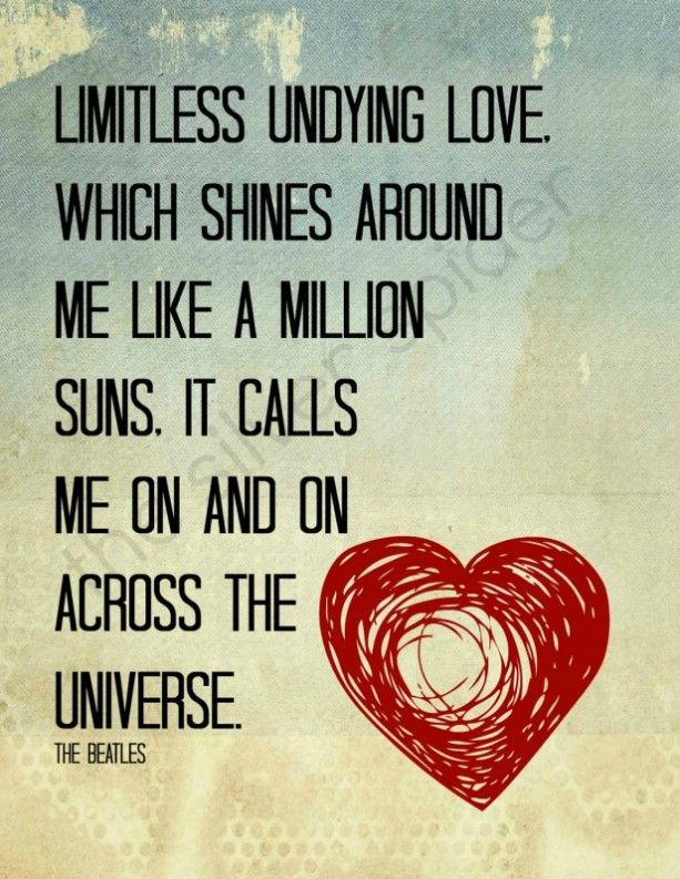 Across the Universe - Lyrics Typography - Quotation Art Print 8x10 ...