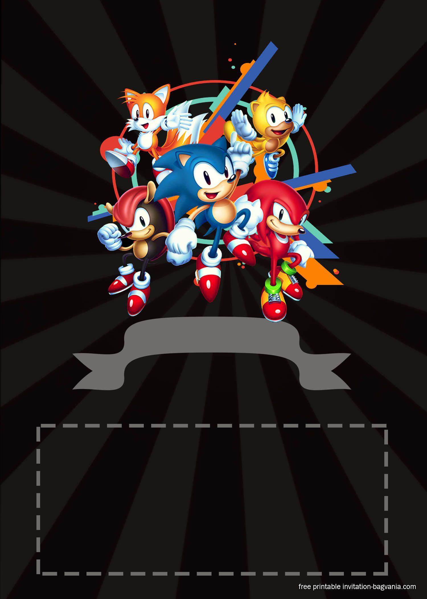 Free Sonic The Hedgehog Invitation Templates Sonic Birthday Parties Sonic Birthday Free Printable Birthday Invitations