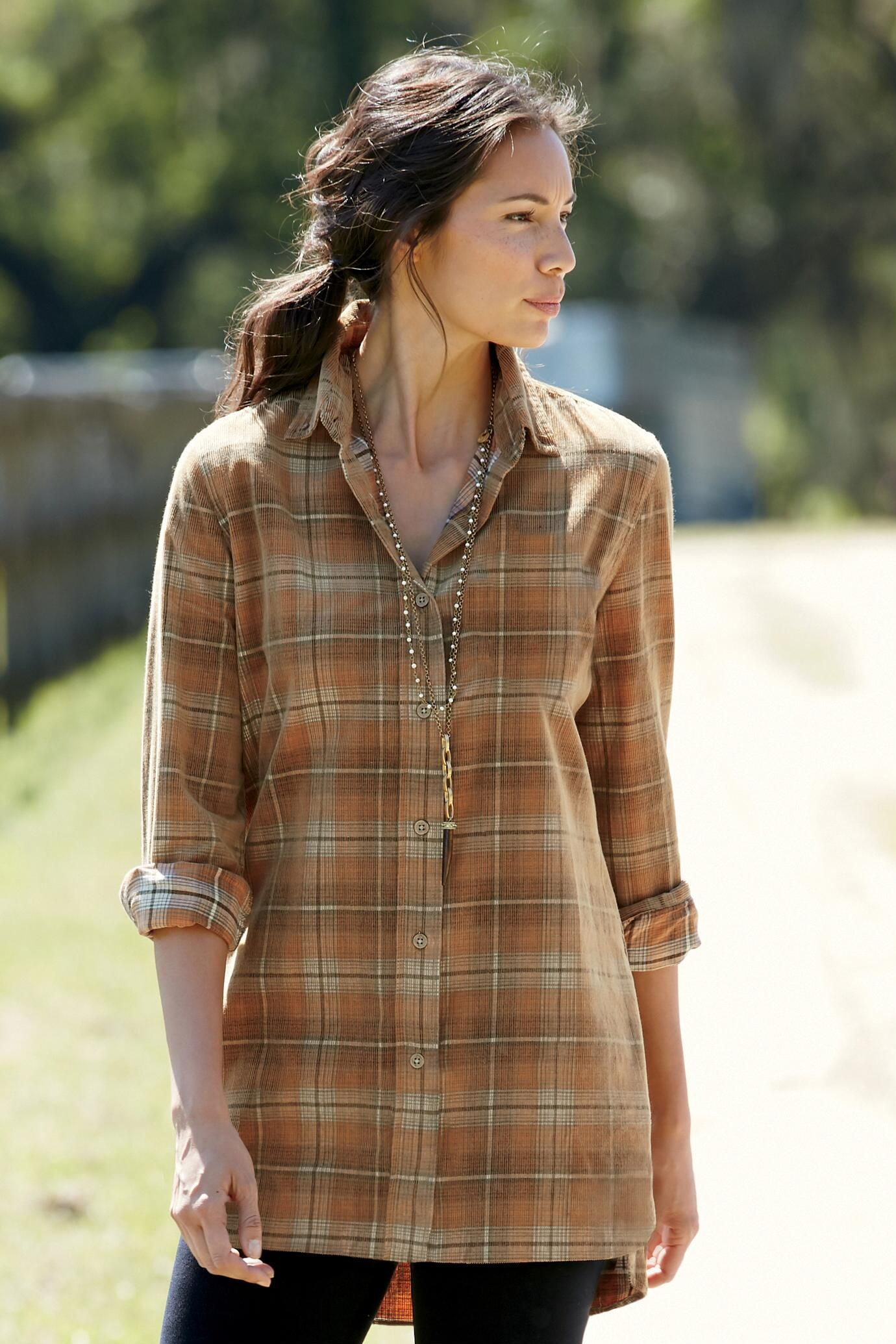 Grandview Lodge Plaid Corduroy Tunic: Exceptional Casual Clothing for Men & Women from #TerritoryAhead $47.50