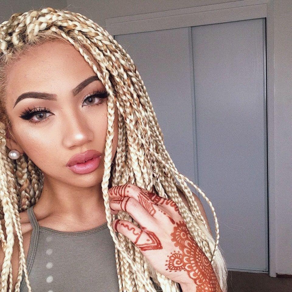 Cachos Em Movimento Hair Styles Blonde Braids Box Braids Hairstyles