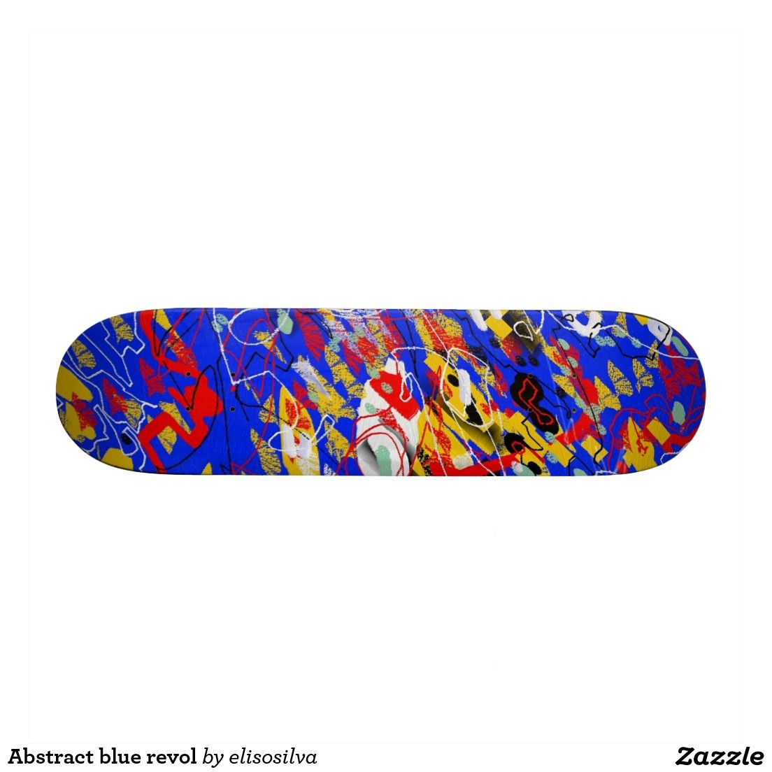 Abstract blue revol tablas de skate