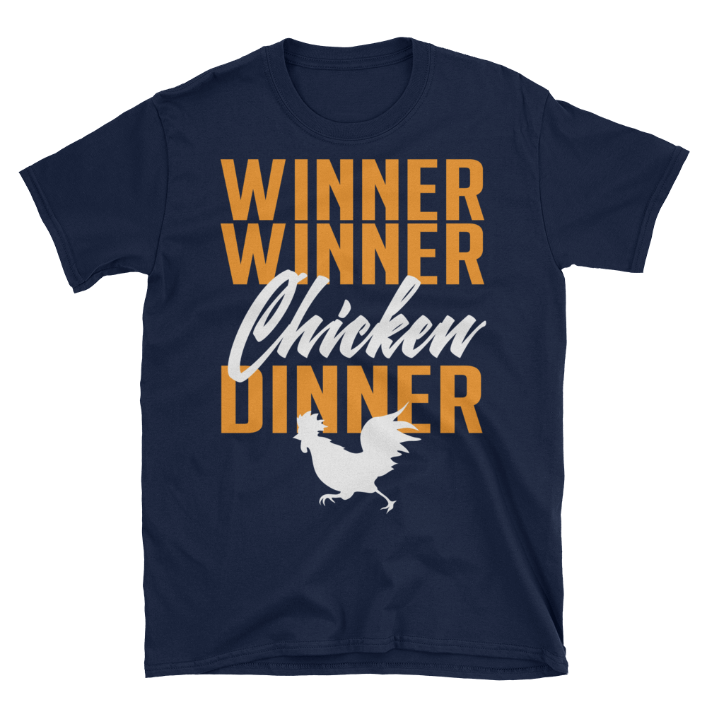 Winner Winner Chicken Dinner Pubg Short Sleeve Unisex T Shirt