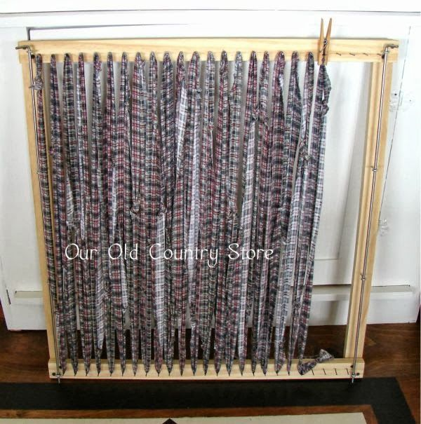 Rug Rag Loom: I Made A 6 Foot Loom For My Twined Rugs And As I Spent Way