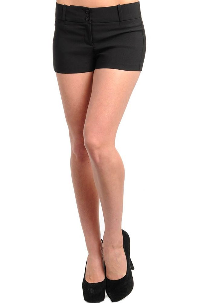DHStyles Women's Black Chic Sexy Two Button Trouser Shorts - Large #sexytops #clubclothes #sexydresses #fashionablesexydress #sexyshirts #sexyclothes #cocktaildresses #clubwear #cheapsexydresses #clubdresses #cheaptops #partytops #partydress #haltertops #cocktaildresses #partydresses #minidress #nightclubclothes #hotfashion #juniorsclothing #cocktaildress #glamclothing #sexytop #womensclothes #clubbingclothes #juniorsclothes #juniorclothes #trendyclothing #minidresses #sexyclothing…