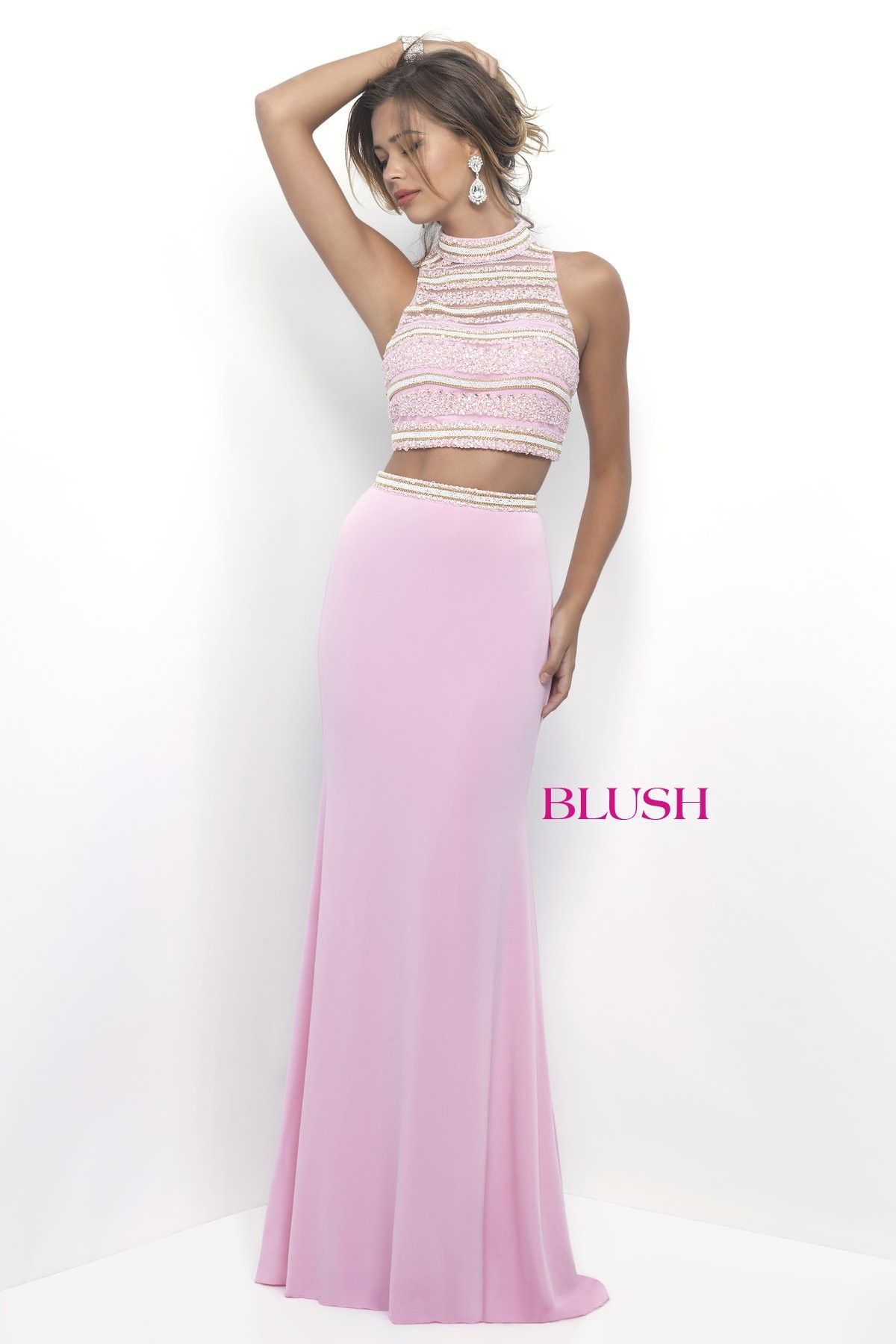 d3269c25aa8 Blush Prom 11230 Cotton Candy Pink High Neckline Prom Dress ...