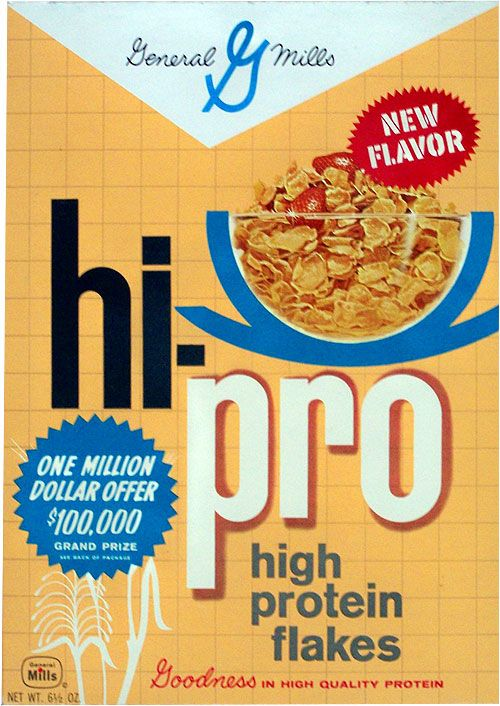 General Mills Cereal Boxes This Is A Box Of Hi Pro Cereal From