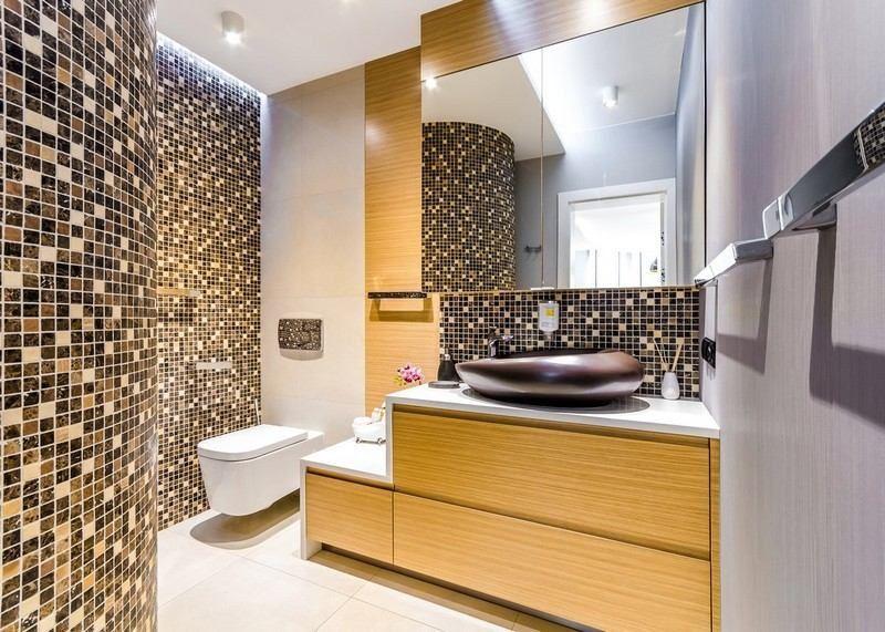 salle de bain noir et blanc ou en tons contrasts en 40 ides - Panneau Bois Salle De Bain