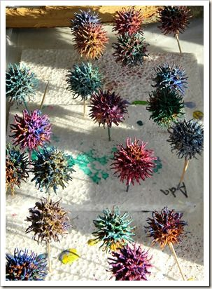 Casa Maria S Creative Learning Zone Candied Gumballs Sweet Gum Tree Crafts Sweet Gum Tree Crafts