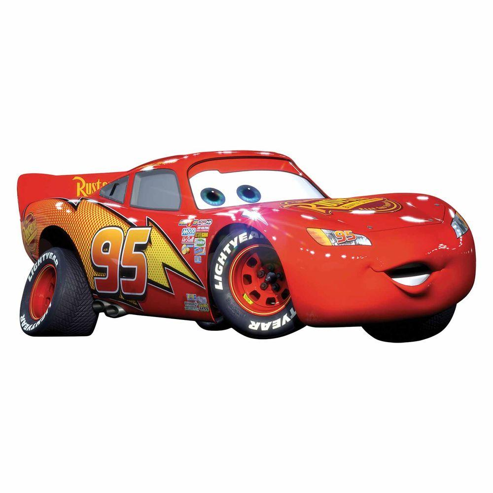 Roommates 5 In X 19 In Cars Lightening Mcqueen 4 Piece Peel And Stick Giant Wall Decal Rmk1518gm The Home Depot In 2020 Lightening Mcqueen Lightning Mcqueen Disney Cars [ 1000 x 1000 Pixel ]