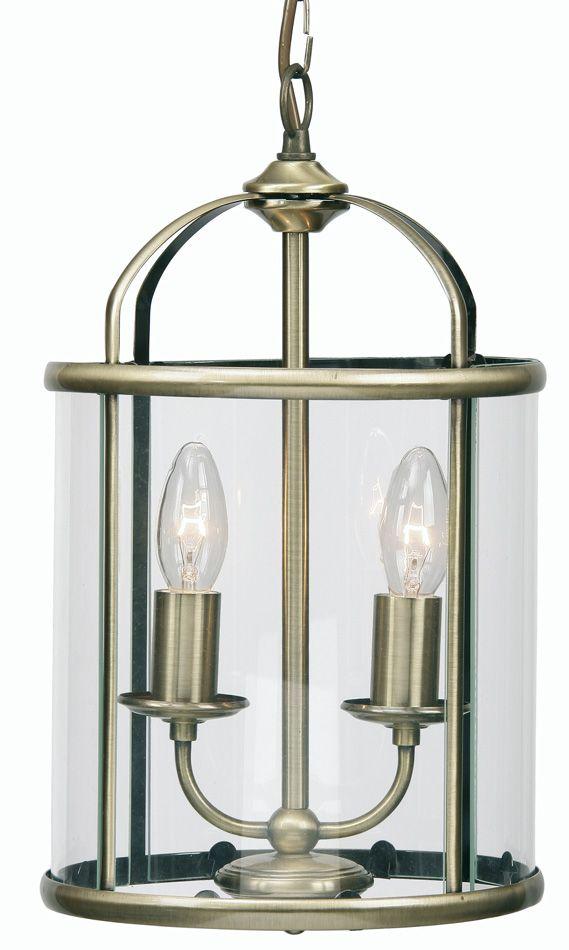 fern antique brass 2 light hanging hall lantern diane pinterest