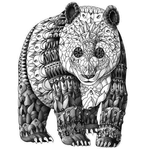 Pin by Сияна on графика Pinterest Panda, Mandala and Adult coloring - fresh realistic bear coloring pages