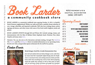 Book Larder website design and brand ID by the Wandering Works Design Co.