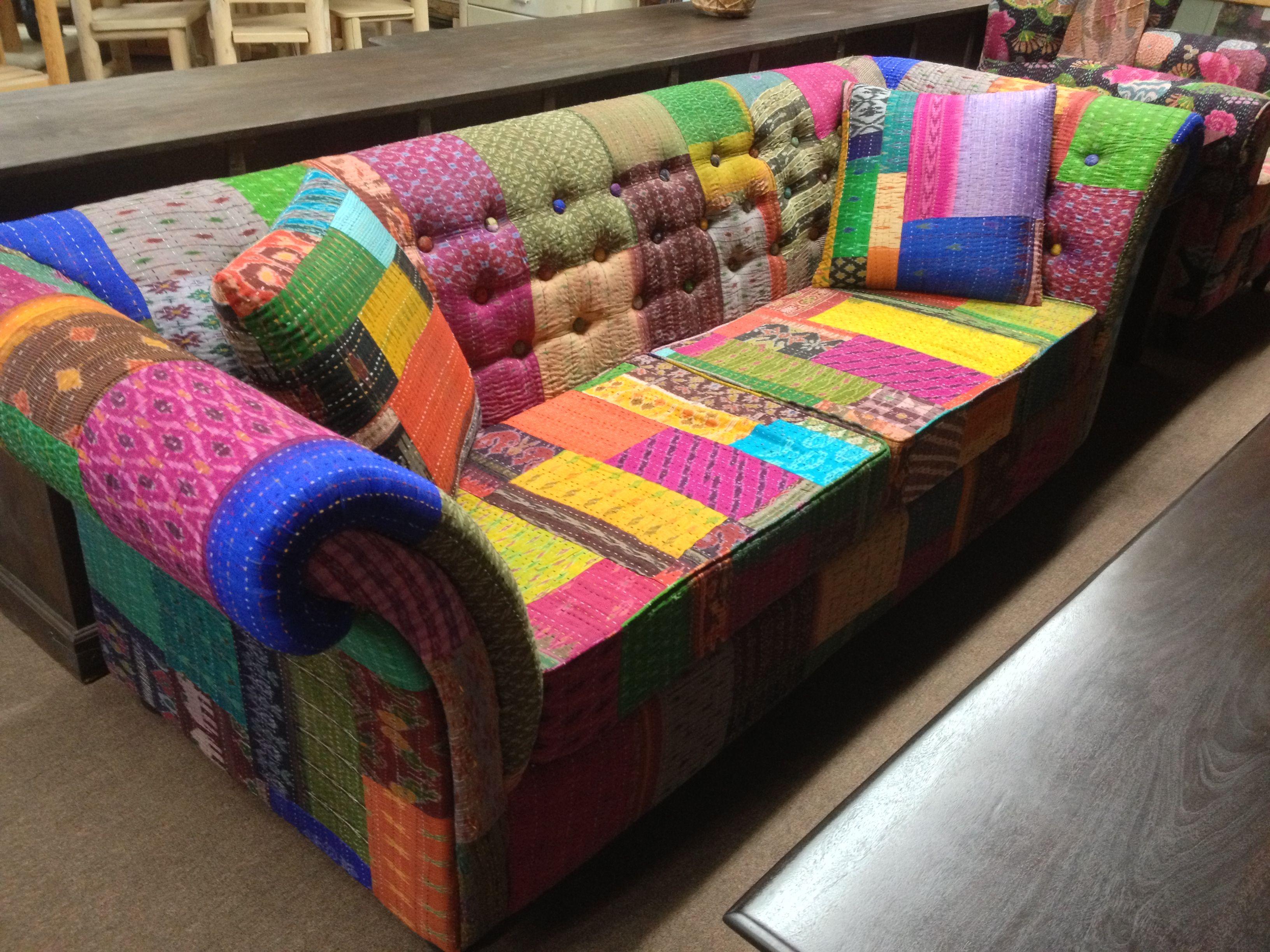 Silk sofa from India