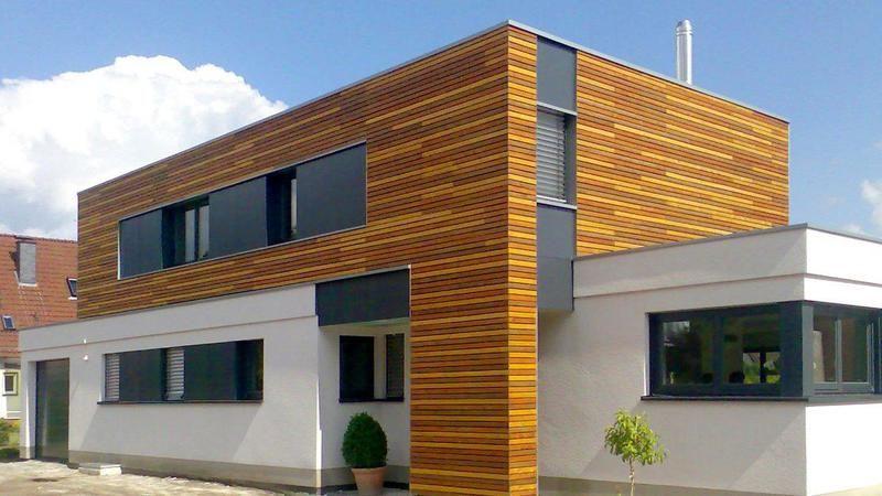 Fassadengestaltung holzoptik  Tolle Fassadenarbeit in bunter Holzoptik von Martin Kegelmann ...