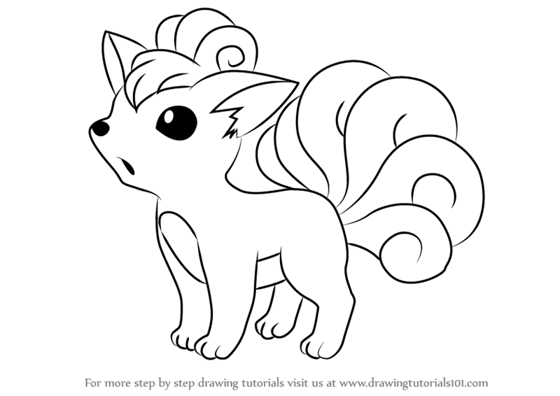 How To Draw Vulpix From Pokemon Drawingtutorials101 Com Pokemon Sketch Easy Pokemon Drawings Pokemon Drawings