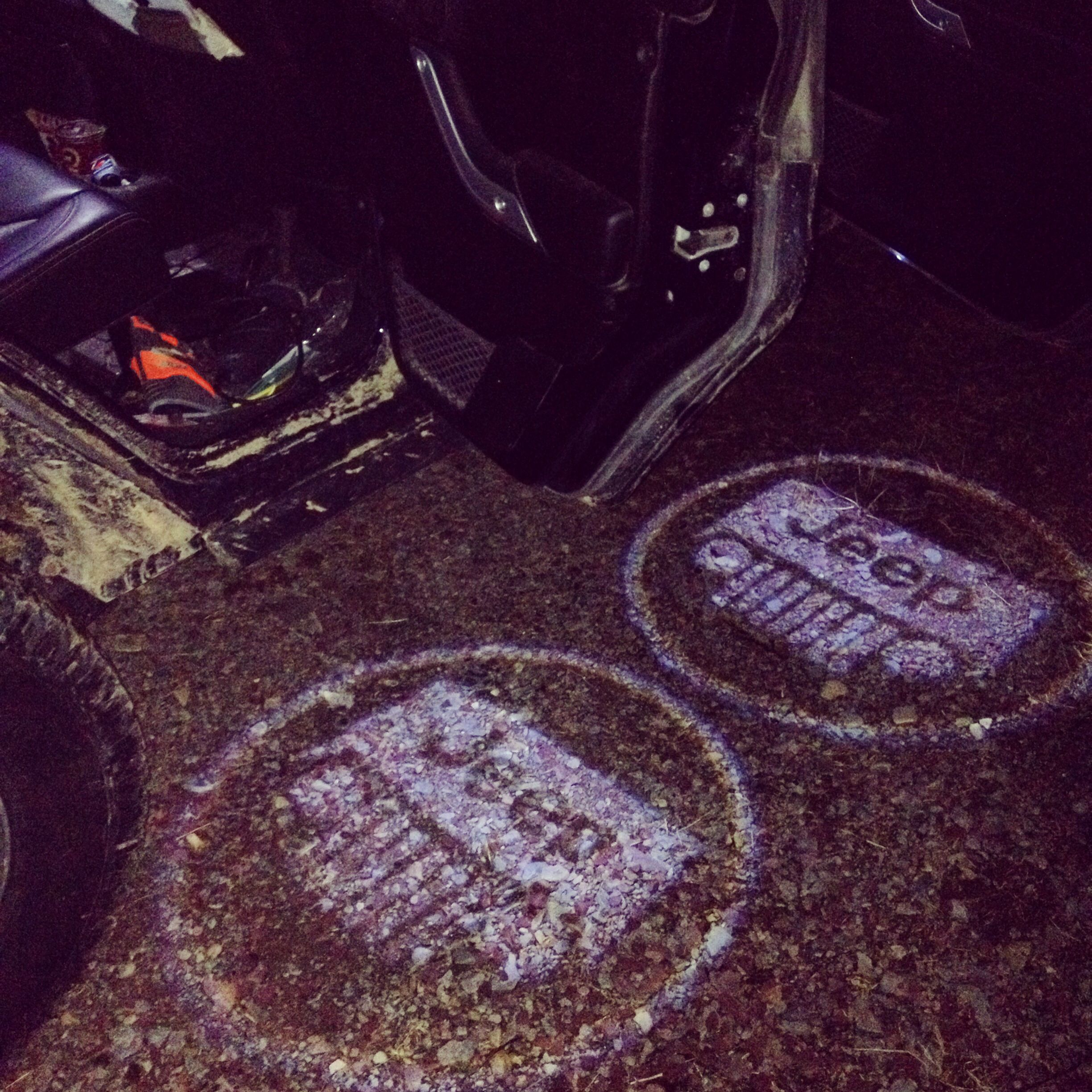 My buddy installed new lights in his doors jeep - Jeep wrangler unlimited interior lights ...