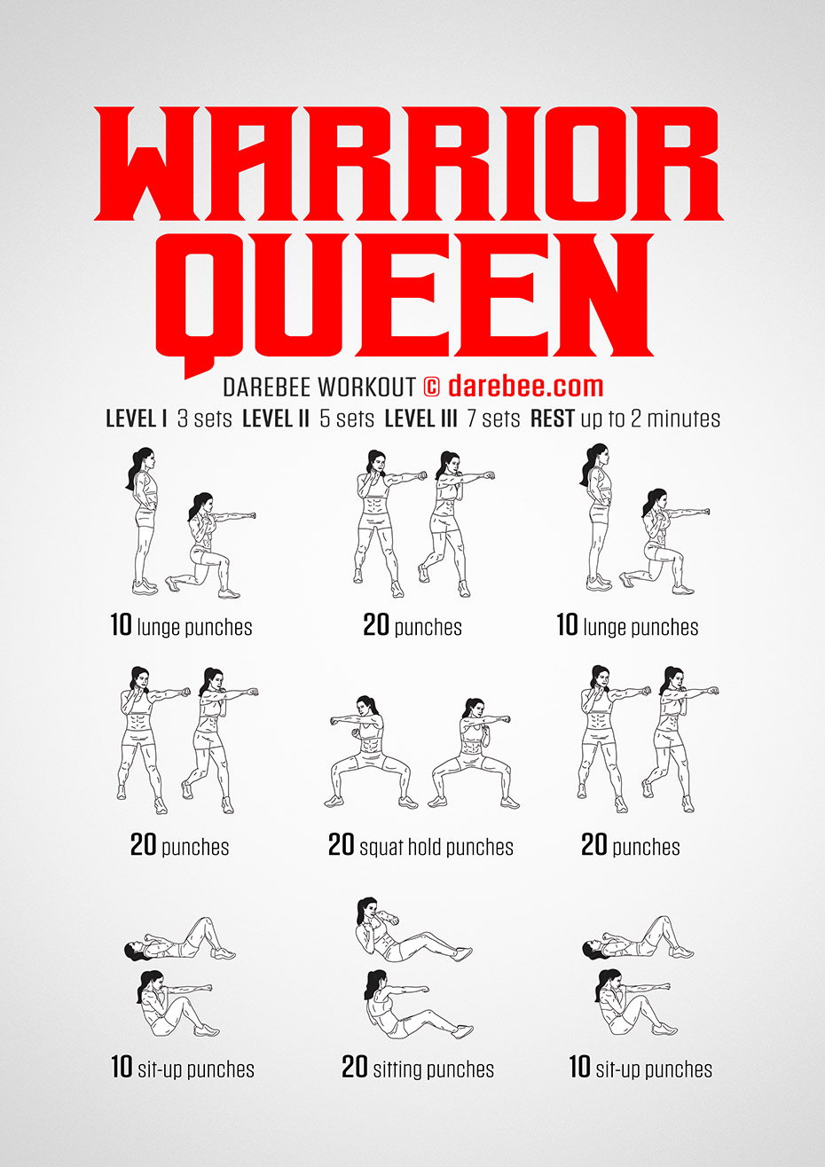 Warrior Queen Workout by #DAREBEE #workout #fitness #abs #abworkout #abs #squats #squatsworkout #wor...