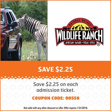 Natural Bridge Wildlife Ranch Coupon San Antonio Attractions Weekend Vacations Natural Bridge