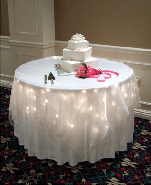 Wedding Cake Tables Decorating Ideas: Twinkle Lights Come Courtesy Of The Holiday Inn Downtown