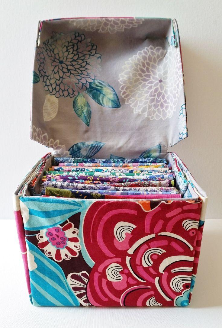 DIY Stoff Box mit Deckel Tutorial (mit Bildern
