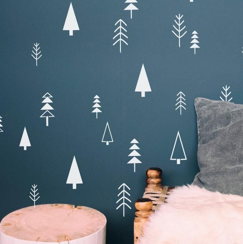 Stencils For Diy Scandi Nordic Decor Nordic Pine Tree Set Of Etsy Nordic Decor Tree Stencil Scandi Christmas Decorations