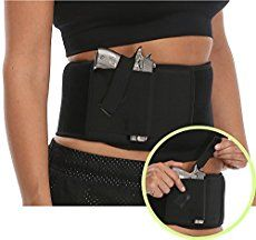 Ultimate Belly Band Holster Concealed Carry Black Fits Gun