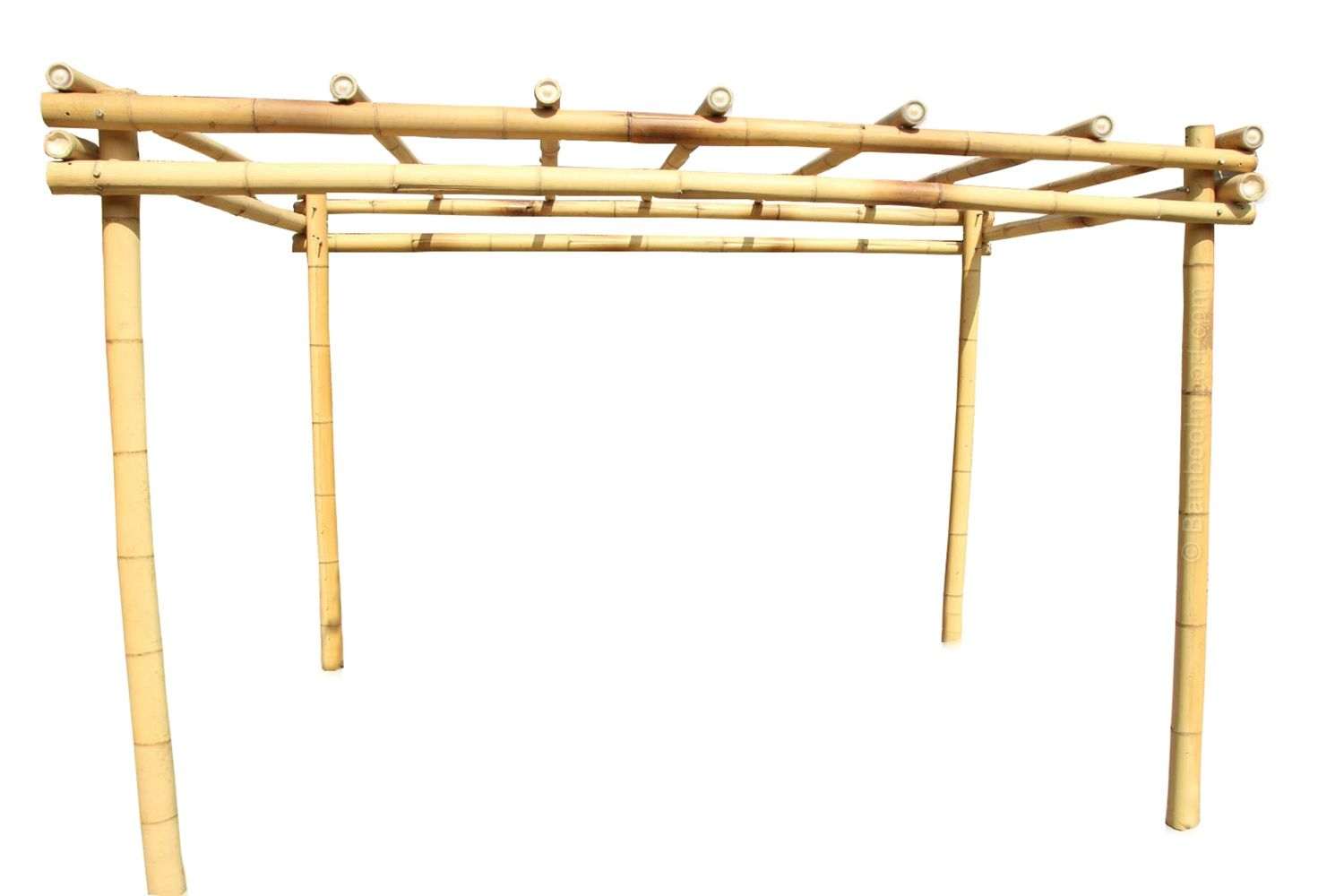 How to Build a Bamboo Pergola | Comment construire, Pergola et Bambou