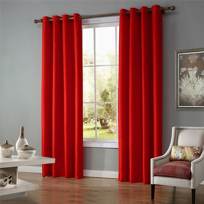 Simple Ready Made Curtain Thin Solid Color Finished Curtain Living Room Curtain Two Panels Curtains Living Room Window Curtains Living Room Curtains