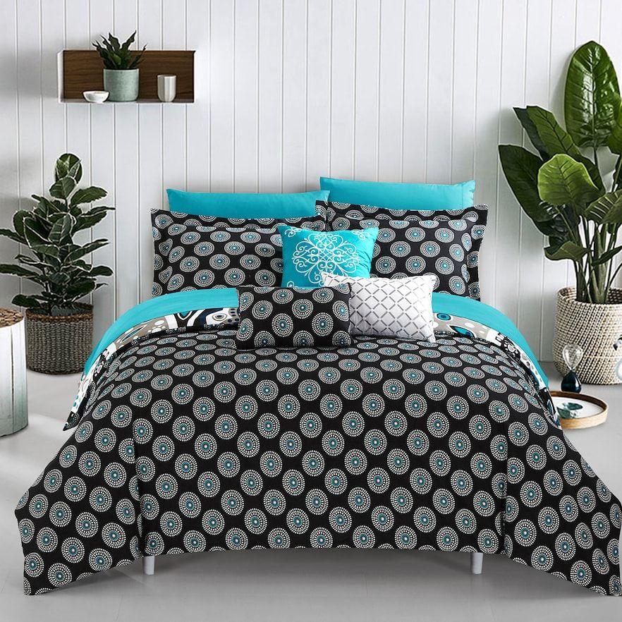 Mornington Twin 8 Piece Bedding Set Black Cheap Bedding Sets