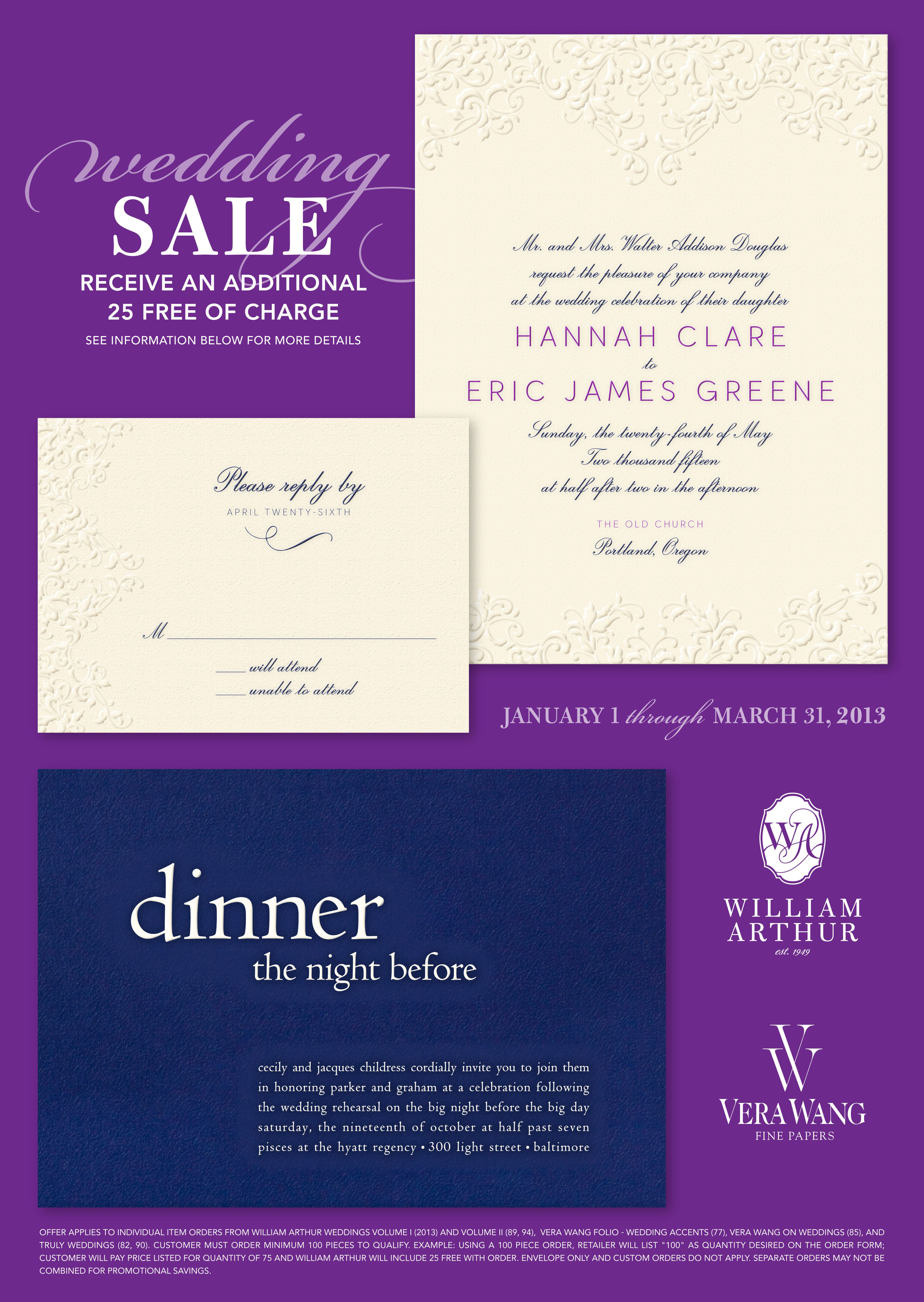 Buy Any 75 William Arthur Wedding Invitations Receive 25 Free Now Until March 31 2013 At Note Worthy Wedding Sale Wedding Wedding Invitations